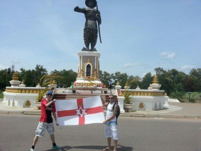 Chaz and I in Laos - Vientiane