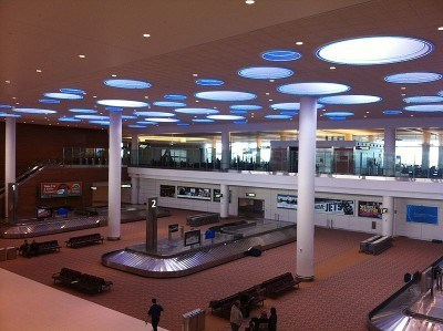 Arrivals Hall in Winnipeg Airport, Canada