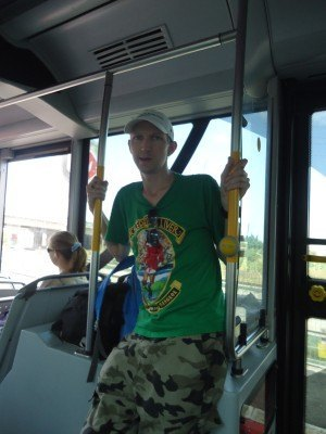 On a tram in Haifa
