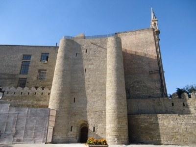 Outside the Palace of the Shirvanshahs, Baku, Azerbaijan
