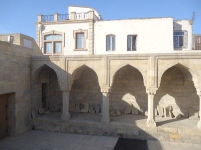 Inside the Palace of the Shirvanshahs, Baku, Azerbaijan