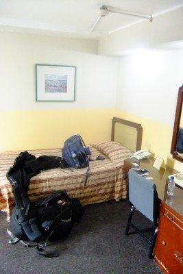 My room 67 at Hotel La Floresta in Caracas, Venezuela