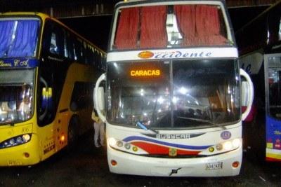 My bus from San Cristobal to Caracas, Venezuela