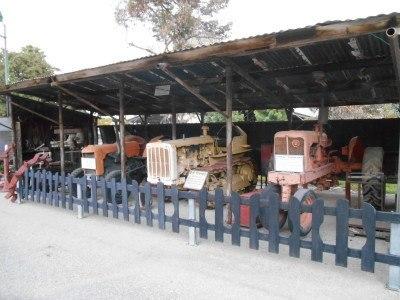 Tractor shed. Sightseeing in Mizra Kibbutz, Israel.
