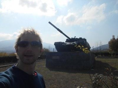 A tank near Agdam in Nagorno Karabakh