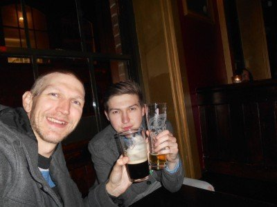 Catching up with my brother Danny in Liverpool, England