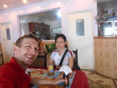 Drinking in Hong Kong restaurant in Bartica, Guyana!