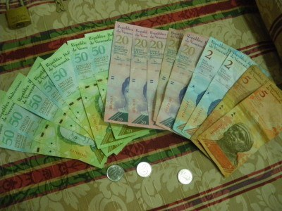 Getting ripped off and feeling worthless having to part with this money in Caracas