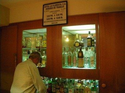 The bar at Hotel La Floresta