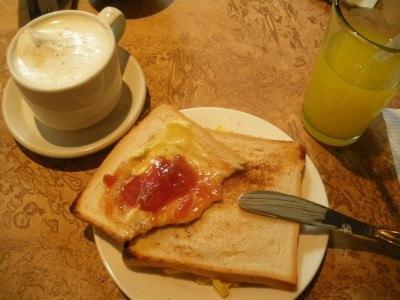 Basic breakfast in Caracas