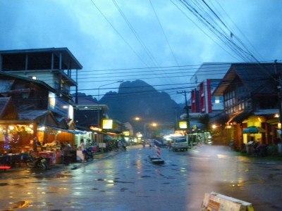 Arrival in Vang Vieng