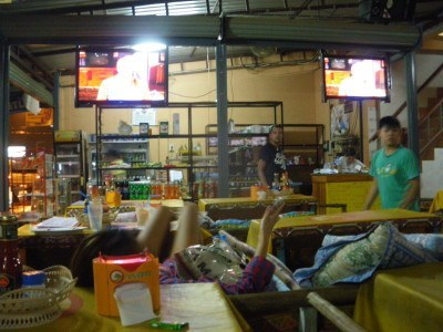 Watching Friends in Vang Vieng.