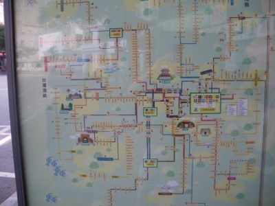 Bus network in Tainan