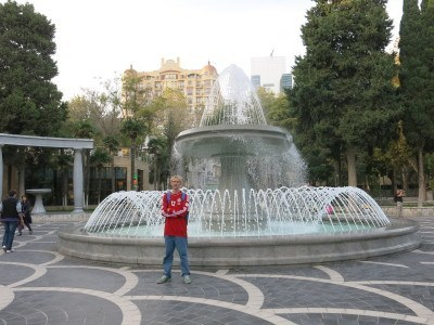 Fountain Square in Baku, Azerbaijan