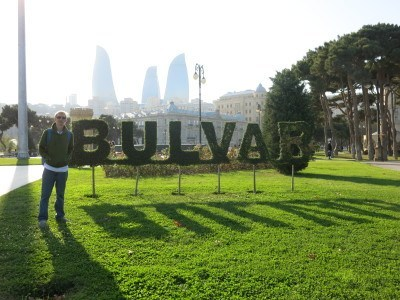 Bulvar, the park by Baku seafront
