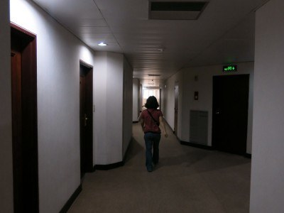 The corridor on floor 24