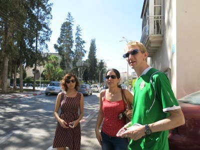 Touring Afula with Mayrav and Haya