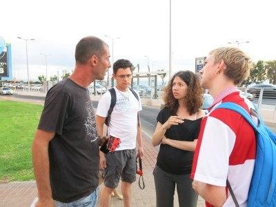 Interviewing the hero of Israel in Haifa.