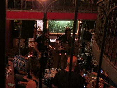 Live music in Jack and the Beans bar in Haifa
