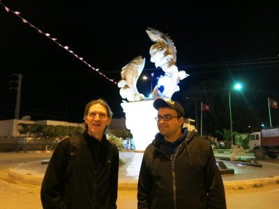 With Wicem at Teboulba fish monument
