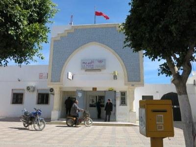 The post office in Teboulba, Tunisia
