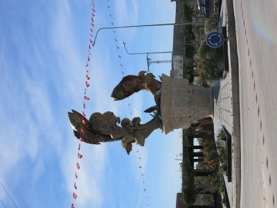 Daytime at Teboulba fish monument - remind me never to take photos vertically - hate them!