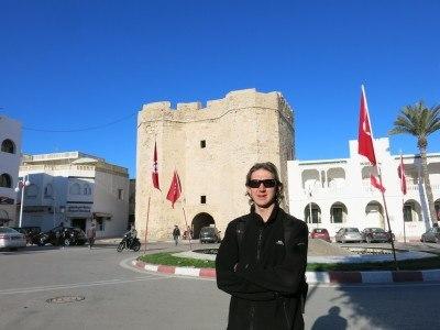 The entrance arch to the Medina in Mahdia.