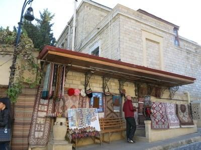 Carpet sellers in Azerbaijan