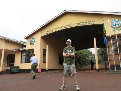 At the entrance to Ngorongoro Crater