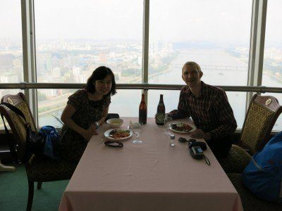 Lunch at the revolving restaurant on the 47th floor.