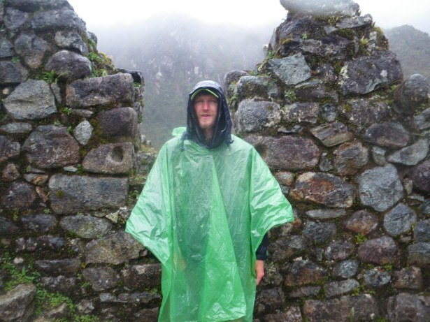 Poncho loyal on the Inca Trail in Peru