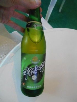 North Korean beer at the Yanggakdo Hotel in Pyongyang