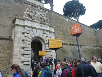 The border entrance into the Vatican Museums, from the Italy side of the border