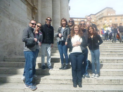 Our group on tour in the Vatican City State with Walks of Italy