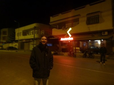 Outside Amsterdam Cafe and Bar in Teboulba