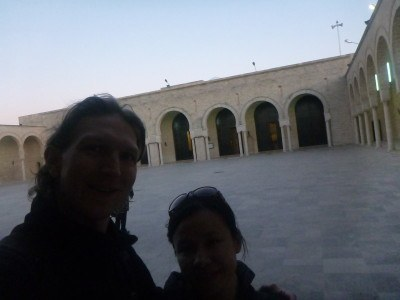 Inside the courtyard of the Grande Mosquee