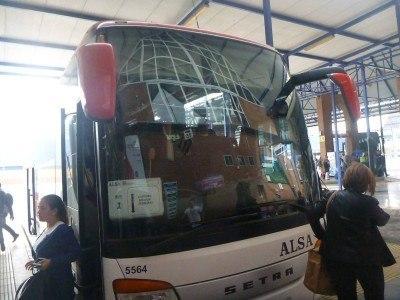 My bus from Malaga to La Linea de le Concepcion