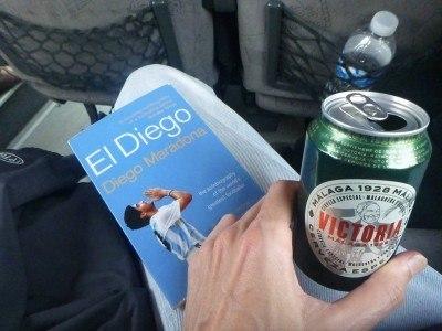 A beer and Maradona's autobiography!