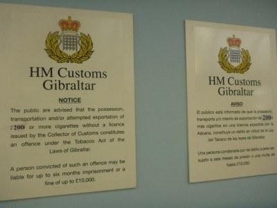 Customs information in Gibraltar
