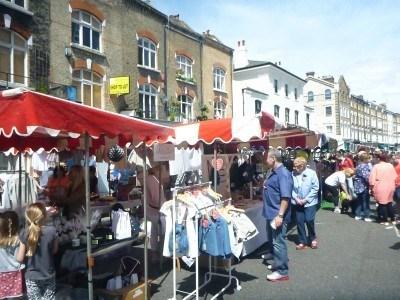 The markets at Primrose Hill, London
