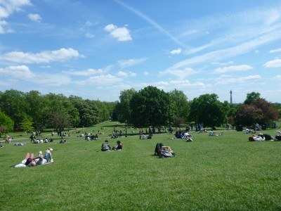 Lovely day at the park in Primrose Hill, London