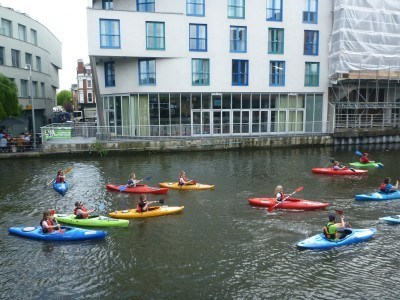 Kayakers on the canals in London