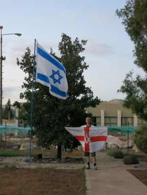 Travelling Northern Ireland flag in Mizra