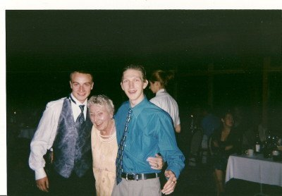 With my cousin Gary and my Granny Mary at Alison's wedding in Winnipeg in 2001