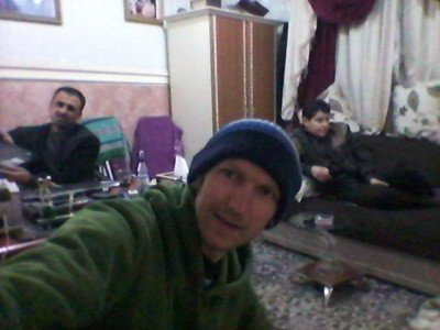 Hanging out in the lounge at the Bikhal Hotel