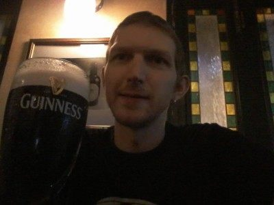 Last ever Guinness in Delaney's Wan Chai (now closed)