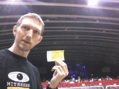 In the venue before the gig started