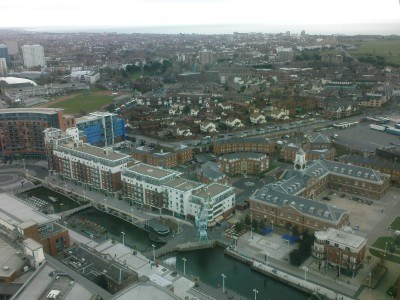 View from the top of Spinnaker Tower, Portsmouth