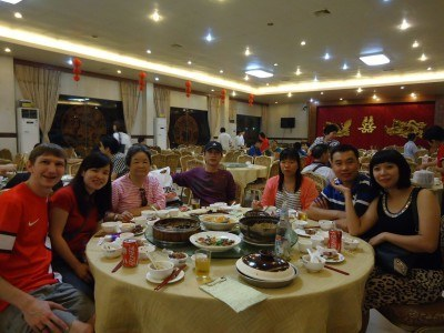 Our huge feast in Kaiping, China