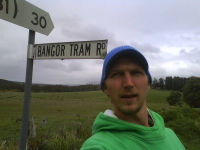 On the Bangor Tram Road in Tasmania